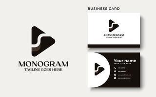 lettre s à la mode professionnelle créative avec création de logo d'icône de jeu en couleur noir et blanc vecteur