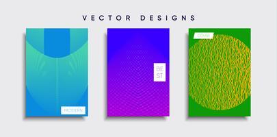 Dessins de couverture minimale de vecteur. Modèle de future affiche.