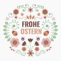 Vecteur de typographie Frohe Ostern