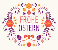 Frohe Osstern Vecteur De Typographie