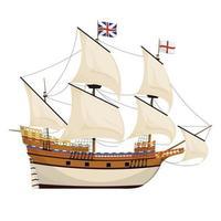 navire de Mayflower, illustration vectorielle vecteur