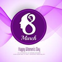 Design de fond abstrait Happy Women's Day vecteur