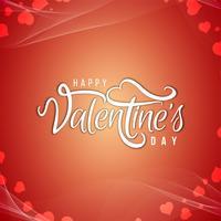 Arrière-plan de conception de texte Happy Valentine's Day