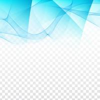 Dessin géométrique abstrait ondulé sur fond transparent vecteur
