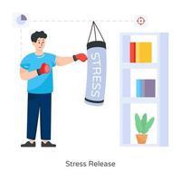 poinçonnage de libération de stress vecteur