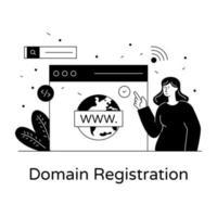 enregistrement de domaine mondial vecteur
