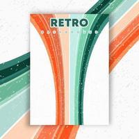 affiche de design rétro avec texture grunge vintage et lignes colorées. illustration vectorielle. vecteur