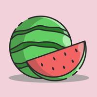 illustration vectorielle de pastèque vecteur
