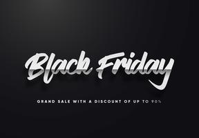 illustration vectorielle de vendredi noir lettres d'argent