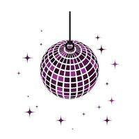 icône de boule disco vecteur