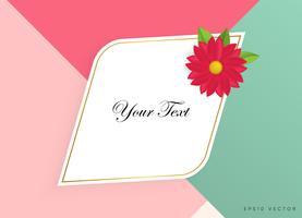 Zone de texte avec de belles fleurs colorées. Illustration vectorielle vecteur