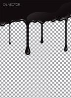 Huile noire réaliste isolée sur fond transparent. Illustration vectorielle