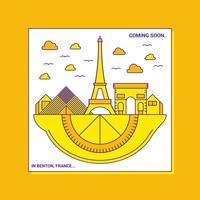 Vecteur de la fête du citron France Menton France