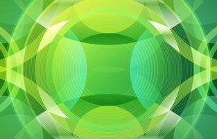 cercle géométrique créatif dégradé vert vecteur