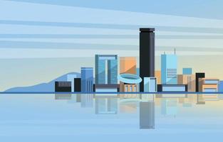 concept de construction de ville moderne vecteur