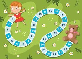 illustration de jeu de société de nombres pour l'éducation des enfants vecteur