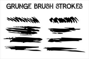 ensemble de coups de pinceau vectoriels. éclaboussures de texture d'encre sale. zones de texte rectangle grunge vecteur
