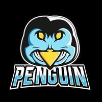 modèle de logo mascotte pingouin sport ou esport gaming, pour votre équipe vecteur