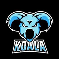 modèle de logo mascotte koala sport ou esport gaming, pour votre équipe vecteur