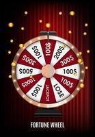 bannière de gagnant de roue de casino vecteur