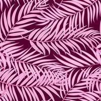 Feuille de palmier rose silhouette transparente motif de fond illustration vectorielle vecteur