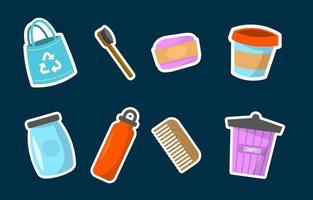 activisme aucune collection d'icônes de mouvement en plastique vecteur