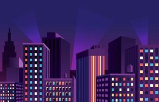 fond de paysage urbain du soir vecteur