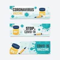 bannière du vaccin covid 19 vecteur