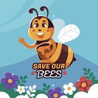campagne de protection des abeilles vecteur