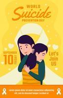 affiche de la journée mondiale de prévention du suicide vecteur