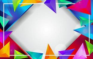 fond abstrait triangulaire vecteur