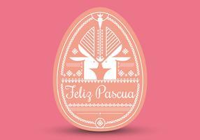 Typographie Feliz Pascua. Fond de Pâques. Joyeuses Pâques. vecteur