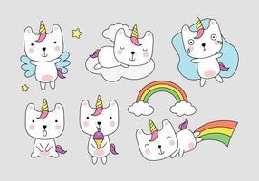 Wannabe Unicorn clipart ensemble