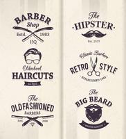 Emblèmes de coiffeur vecteur