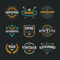Emblèmes de hipster de vecteur
