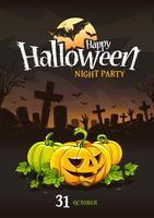 Conception d'affiche Halloween vecteur