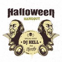 Flyer fête d'halloween