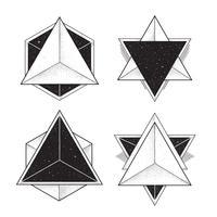 Cadres géométriques hipster vecteur