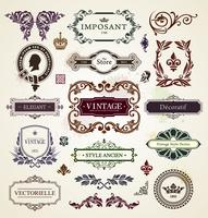 Éléments de design vintage vecteur