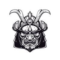 Masque samouraï clip-art vecteur
