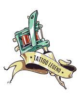 Légende de tatouage vecteur