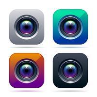 Icône de l'application photo vecteur