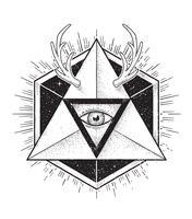 Art géométrique hipster vecteur