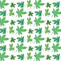 Motif mignon de trèfle vert vecteur