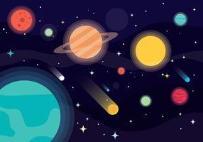 Vecteur de fond de galaxie