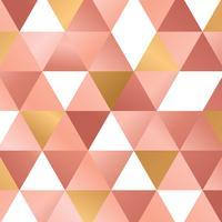 Triangle motif rose fond or vecteur