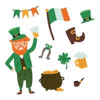 Doodles du jour de la St Patrick vecteur