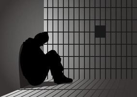 homme en prison vecteur