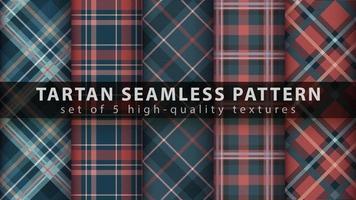 définir le modèle sans couture textile tartan. dessiner à la main vecteur