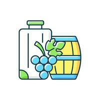 icône de couleur rvb du tourisme industriel. voyage à l'étranger pour une dégustation de vins. voyage pour la gastronomie et le vinitourisme. illustration vectorielle isolée. dessin au trait rempli simple de catégorie de lindustrie du voyage vecteur